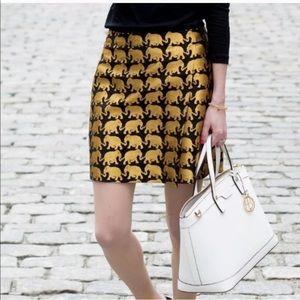 J Crew Elephant Parade Jacquard Skirt